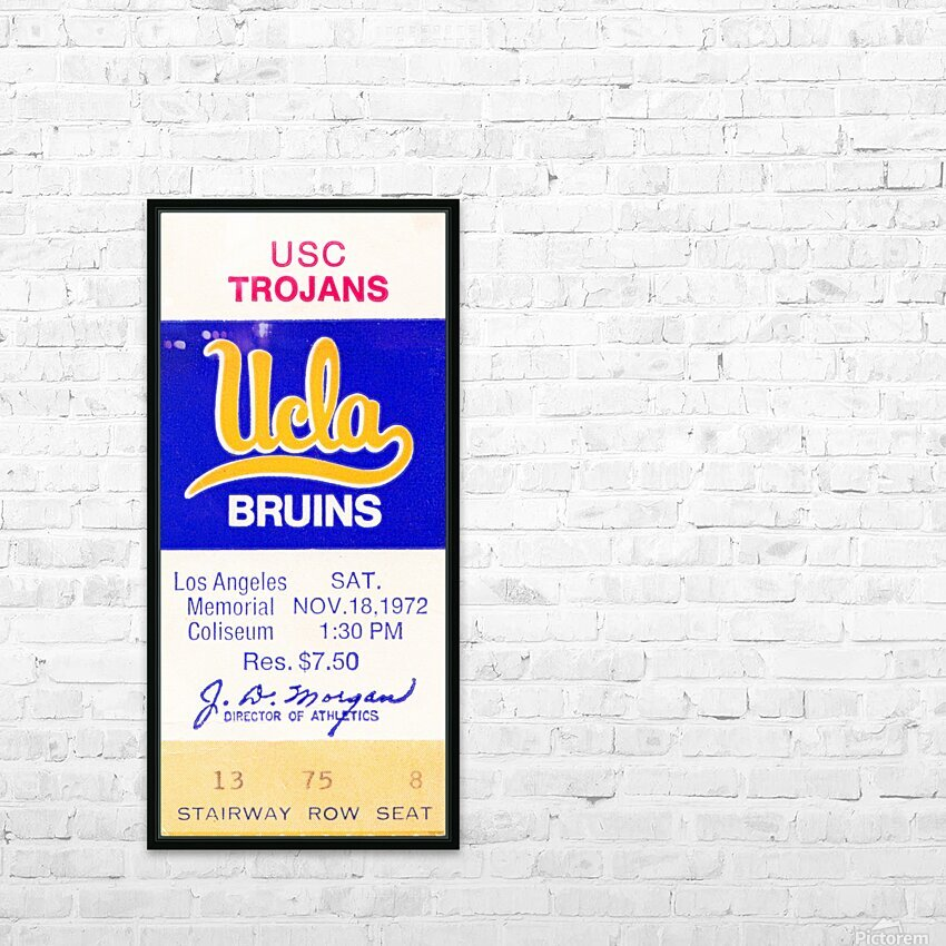 1972 USC vs. UCLA HD Sublimation Metal print with Decorating Float Frame (BOX)