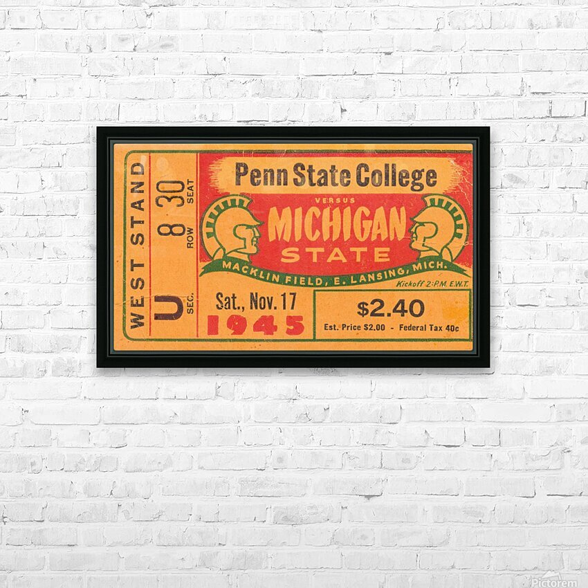 1945 Michigan State vs. Penn State HD Sublimation Metal print with Decorating Float Frame (BOX)