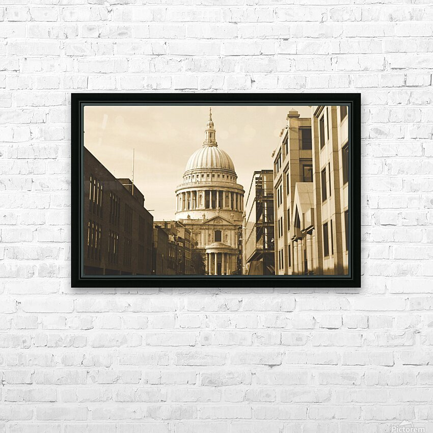 London - St  Pauls Cathedral HD Sublimation Metal print with Decorating Float Frame (BOX)