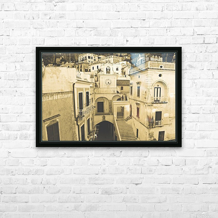 Vintage Style - The village HD Sublimation Metal print with Decorating Float Frame (BOX)