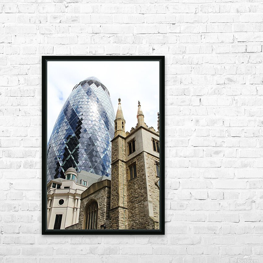 London old and new HD Sublimation Metal print with Decorating Float Frame (BOX)