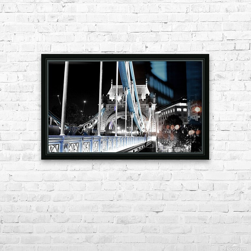Tower Bridge HD Sublimation Metal print with Decorating Float Frame (BOX)