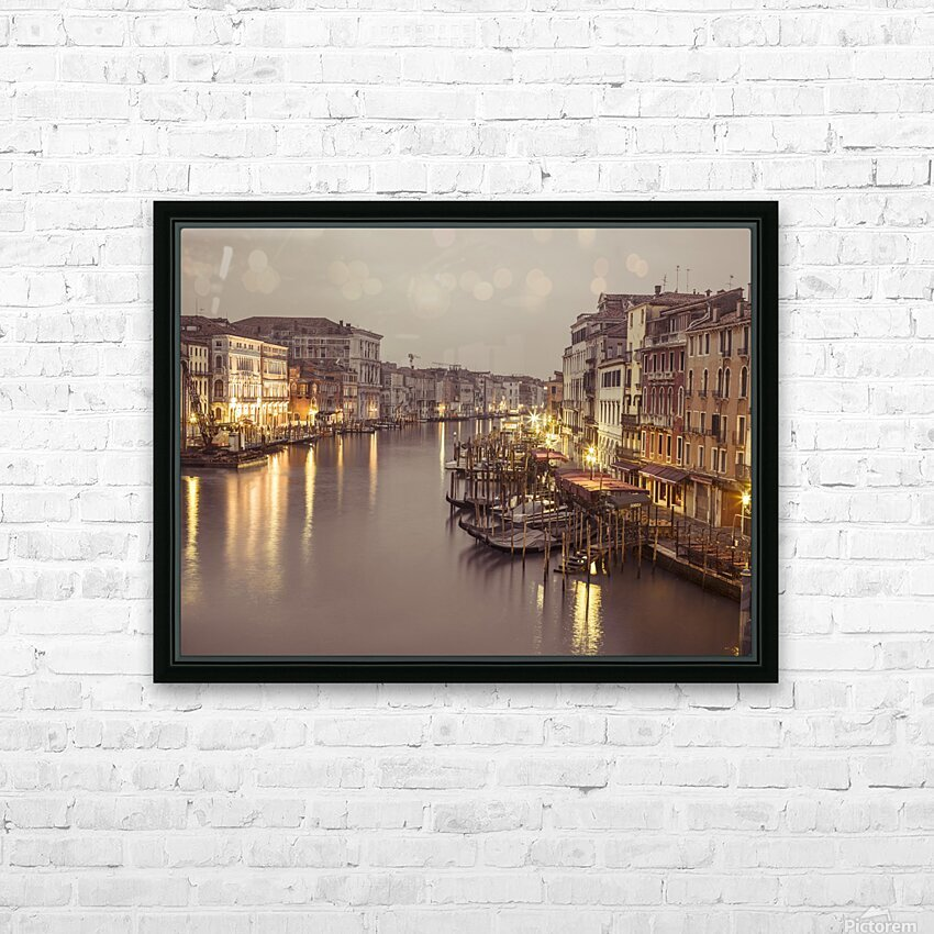 The Grand canal at dusk, Venice, Italy HD Sublimation Metal print with Decorating Float Frame (BOX)