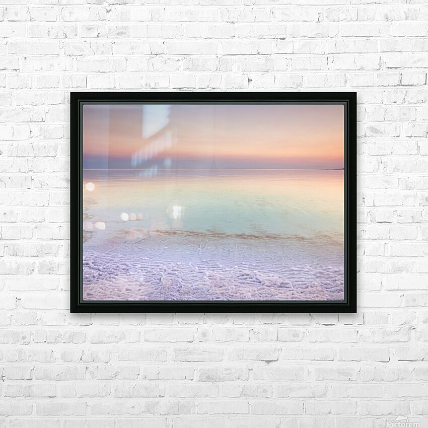 Dead sea shore at dusk, Israel HD Sublimation Metal print with Decorating Float Frame (BOX)