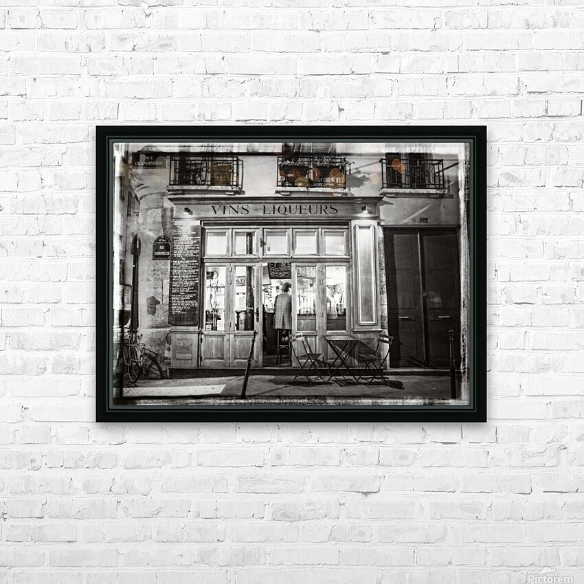 Cafe on street of Montmartre, Paris HD Sublimation Metal print with Decorating Float Frame (BOX)