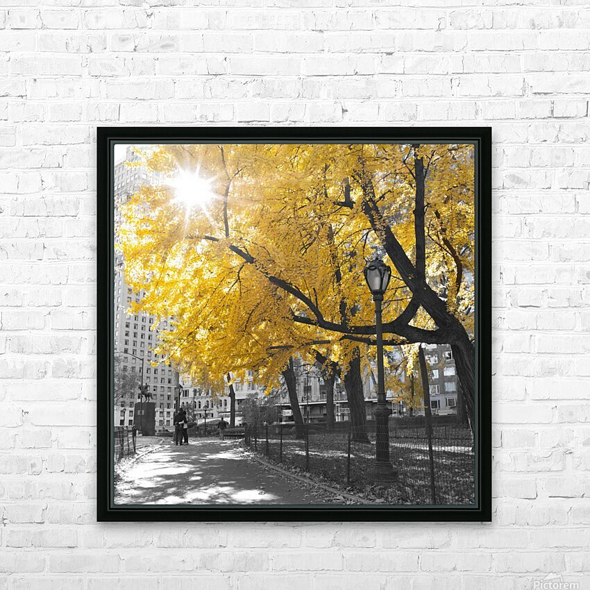 Pathway through Central park, New York City HD Sublimation Metal print with Decorating Float Frame (BOX)