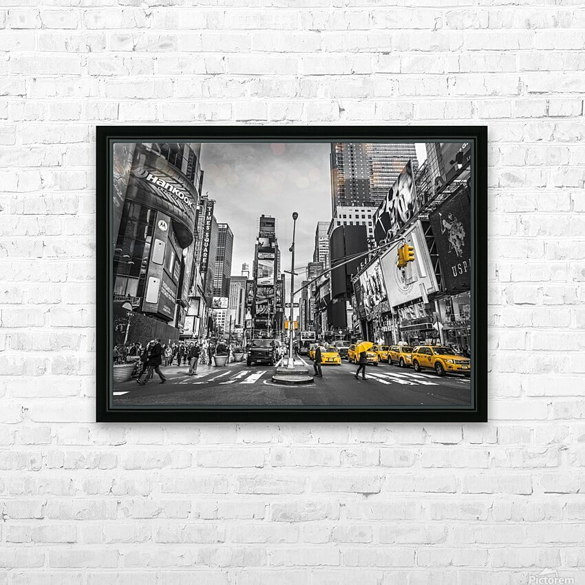 Traffic signal on broadway Times Square,  Manhattan, New York City HD Sublimation Metal print with Decorating Float Frame (BOX)