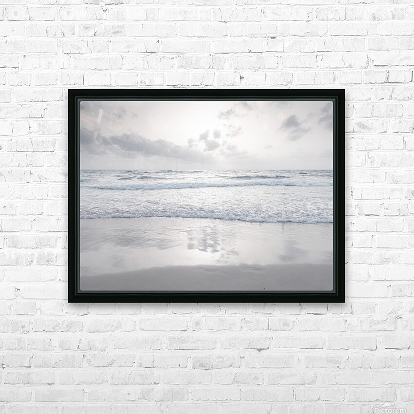 Tranquil beach with cloudscapes HD Sublimation Metal print with Decorating Float Frame (BOX)