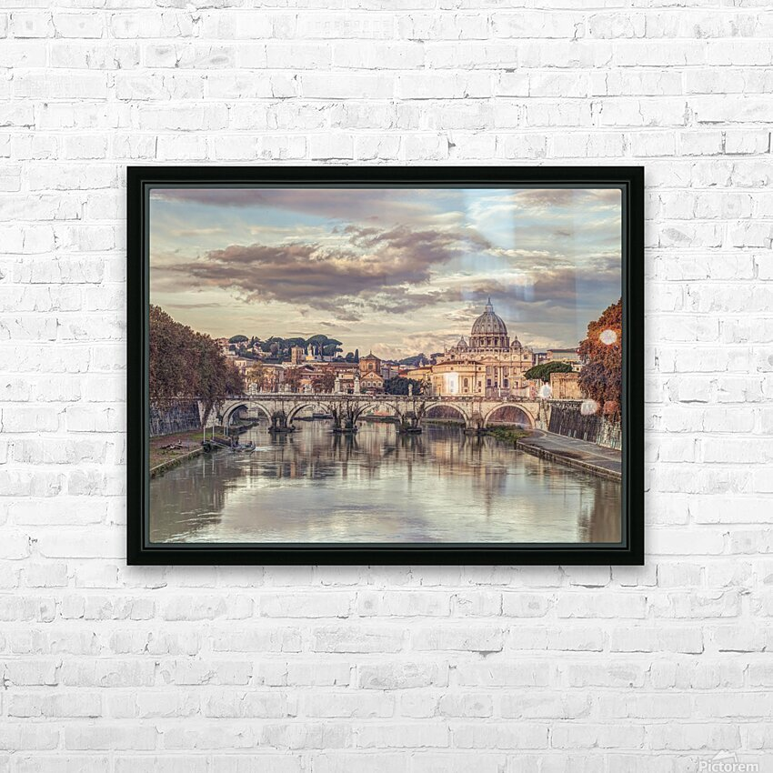 View of Basilica di San Pietro in Vatican, Rome, Italy HD Sublimation Metal print with Decorating Float Frame (BOX)
