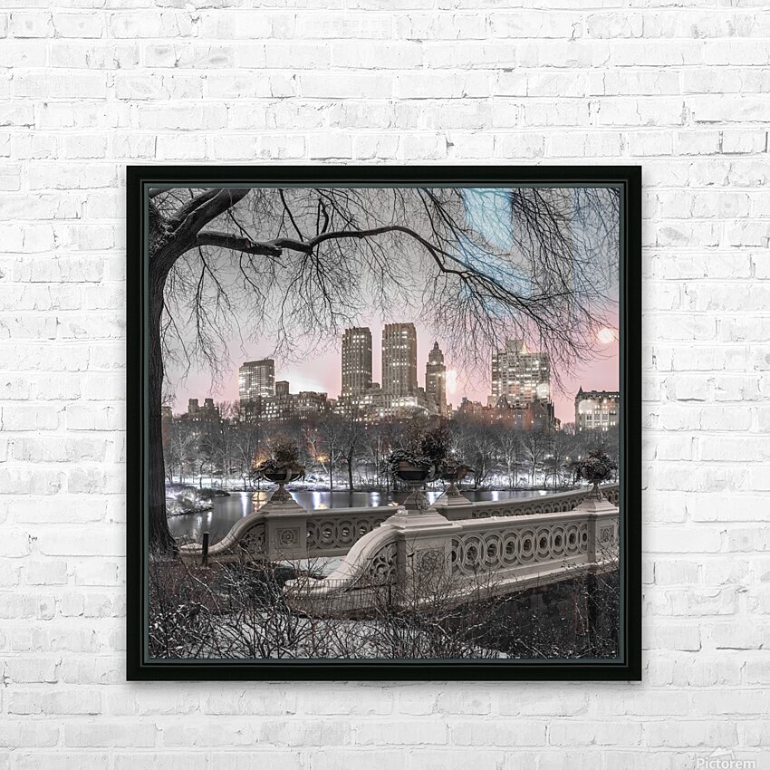 Central park with Manhattan skyline, New York HD Sublimation Metal print with Decorating Float Frame (BOX)