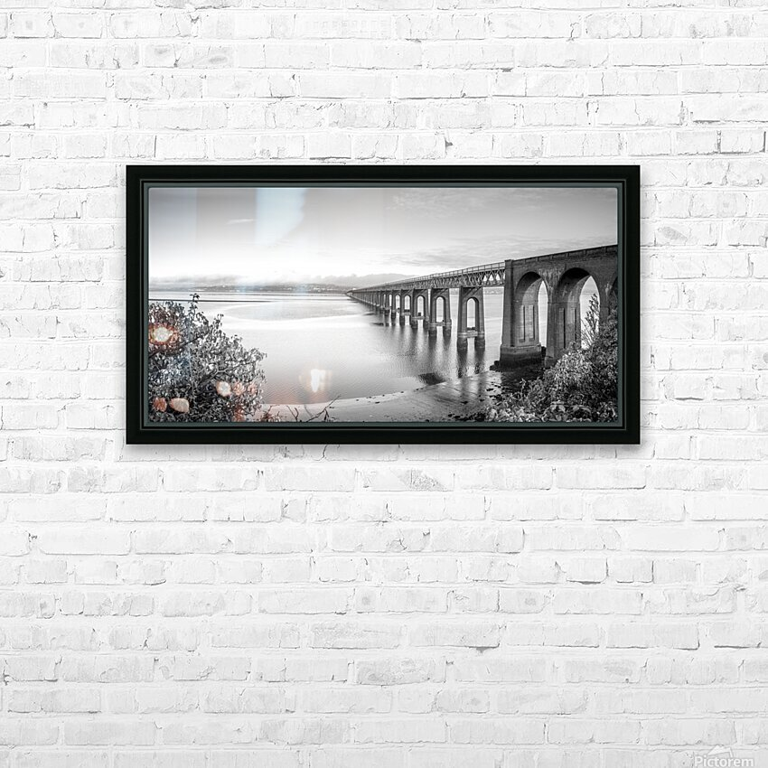 Tay Rail Bridge, Dundee, Scotland HD Sublimation Metal print with Decorating Float Frame (BOX)