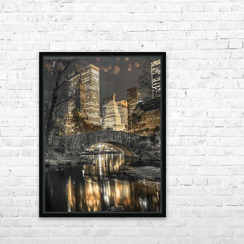 Evening view of Central Park in New York City HD sublimation métal imprimé avec décoration flotteur cadre (boîte)