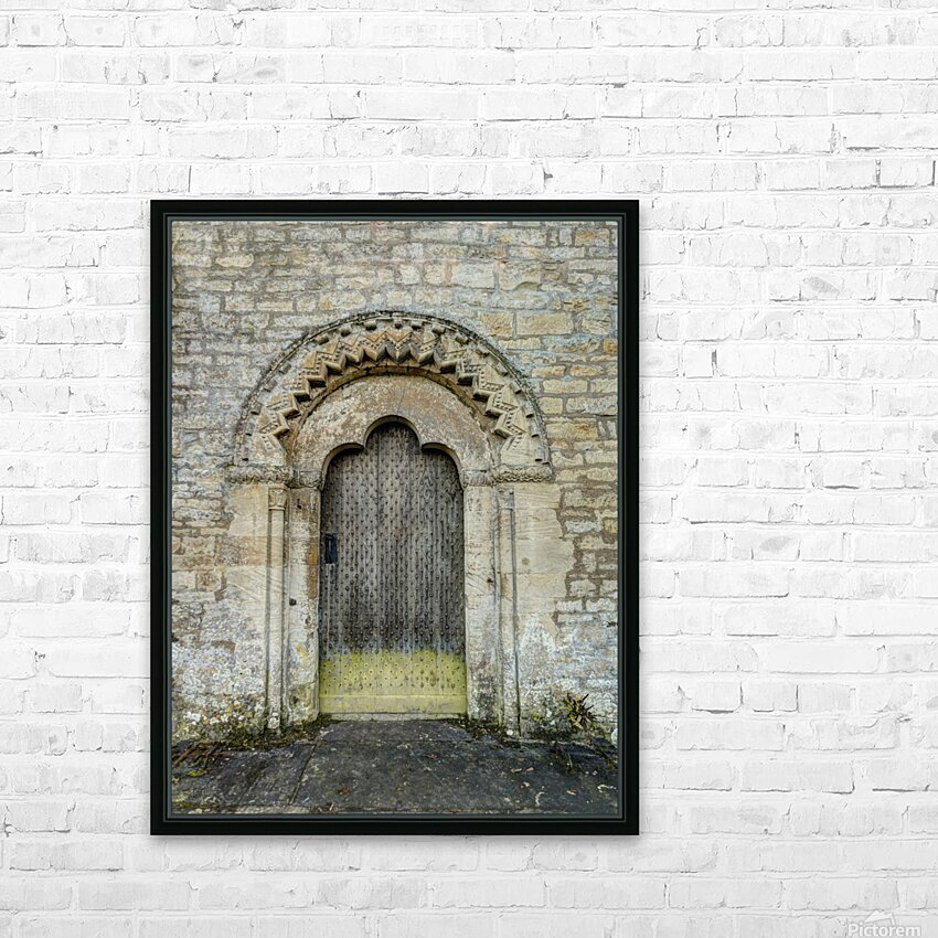 Front door of old cottage in Bibury,  Cotswold, UK HD Sublimation Metal print with Decorating Float Frame (BOX)