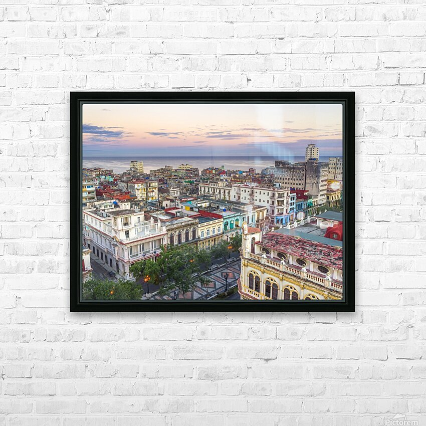 Havana from above HD Sublimation Metal print with Decorating Float Frame (BOX)