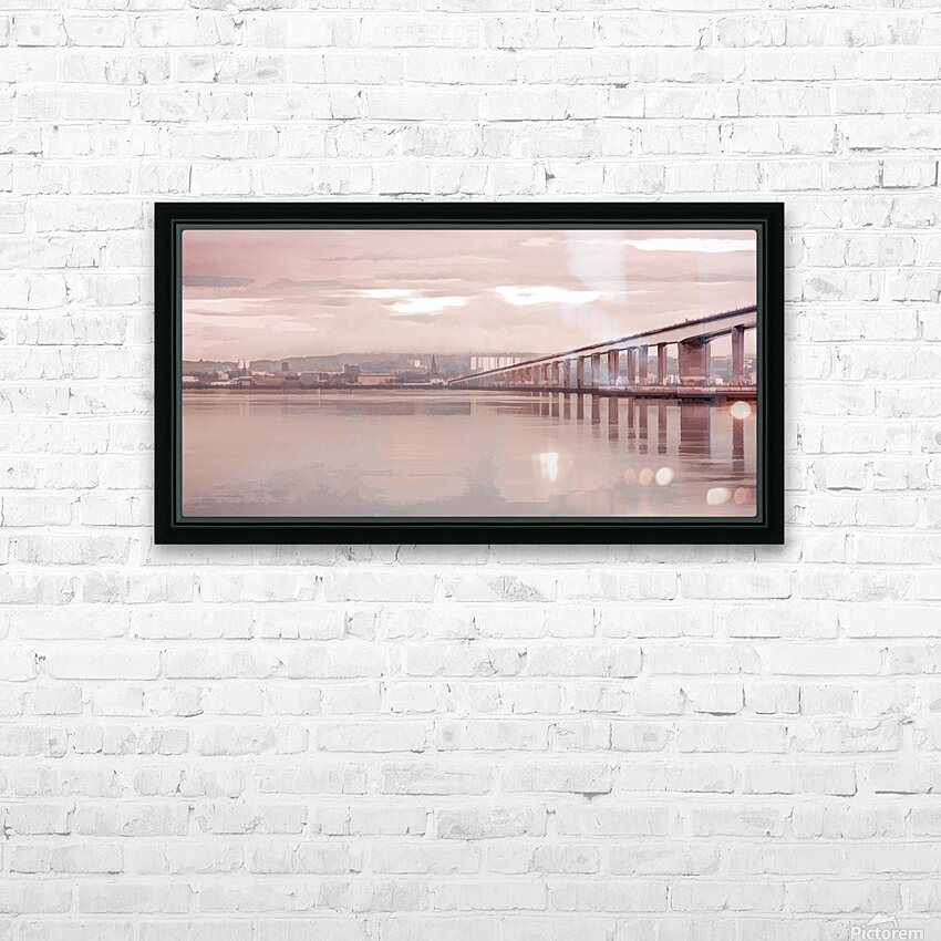 Tay Road Bridge over river Tay, Dundee, Scotland HD Sublimation Metal print with Decorating Float Frame (BOX)