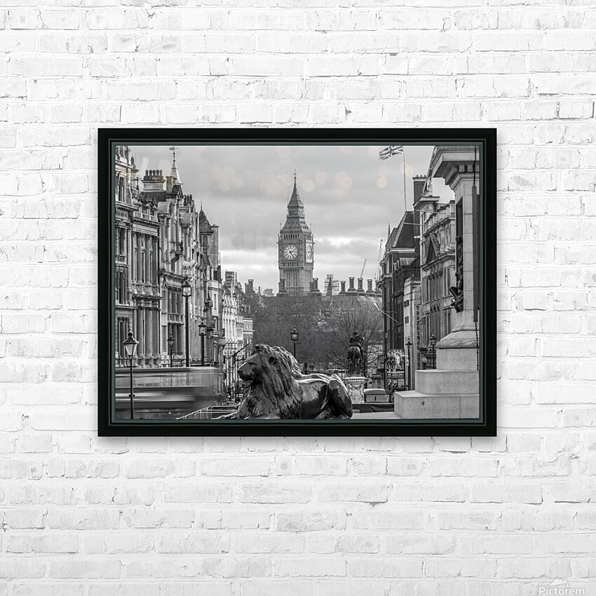 Trafalgar Square with Big Ben in background HD Sublimation Metal print with Decorating Float Frame (BOX)