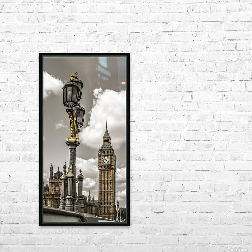 Street lamp with Big Ben in background, London, UK HD Sublimation Metal print with Decorating Float Frame (BOX)