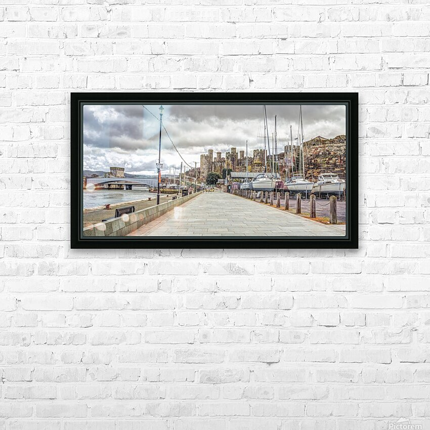 Conwy harbour, North Wales coast HD Sublimation Metal print with Decorating Float Frame (BOX)