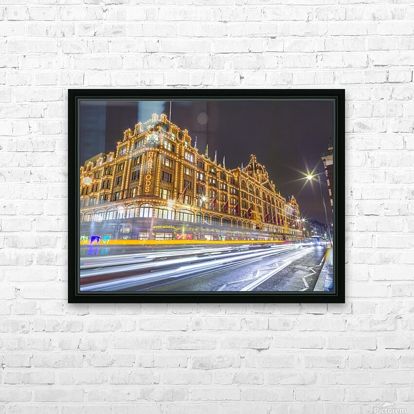 Harrods, London HD Sublimation Metal print with Decorating Float Frame (BOX)