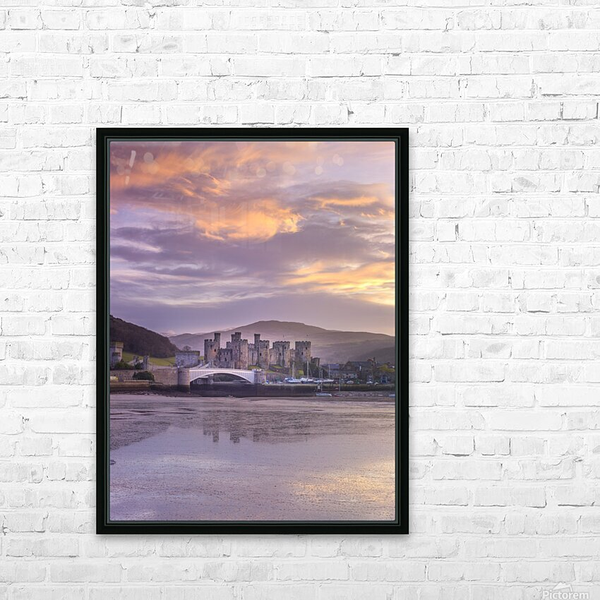 Conwy castle, North Wales coast HD Sublimation Metal print with Decorating Float Frame (BOX)