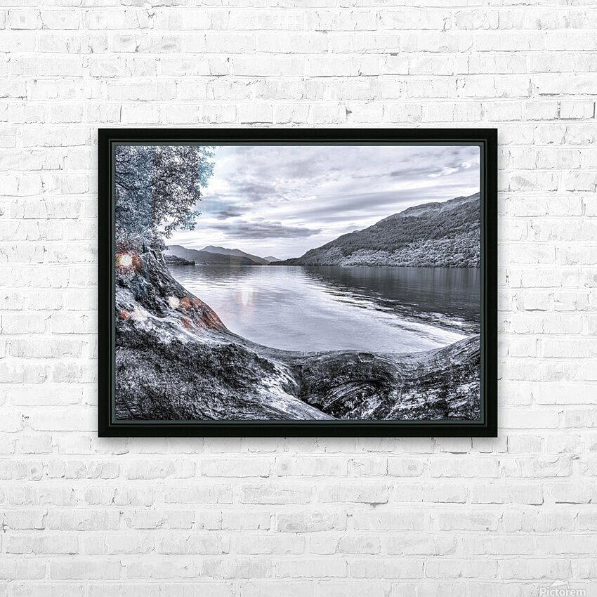 Scottish Loch HD Sublimation Metal print with Decorating Float Frame (BOX)