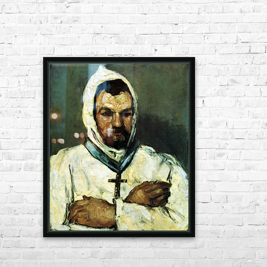 Portrait of Uncle Dominique as a monk by Cezanne HD Sublimation Metal print with Decorating Float Frame (BOX)