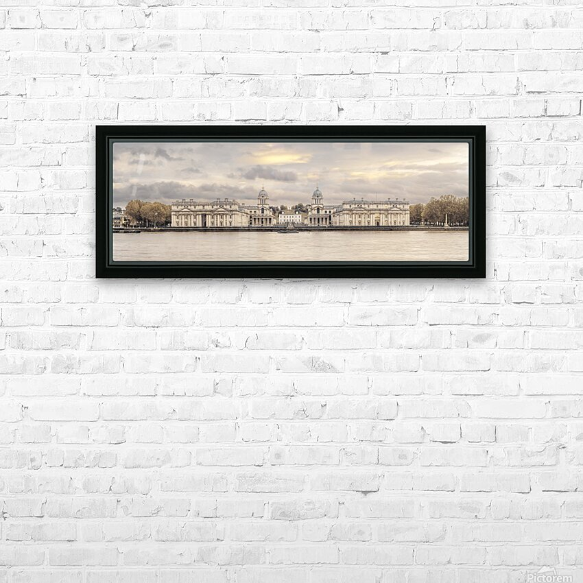 Royal Naval College at Greenwich with a view from the River Thames HD Sublimation Metal print with Decorating Float Frame (BOX)