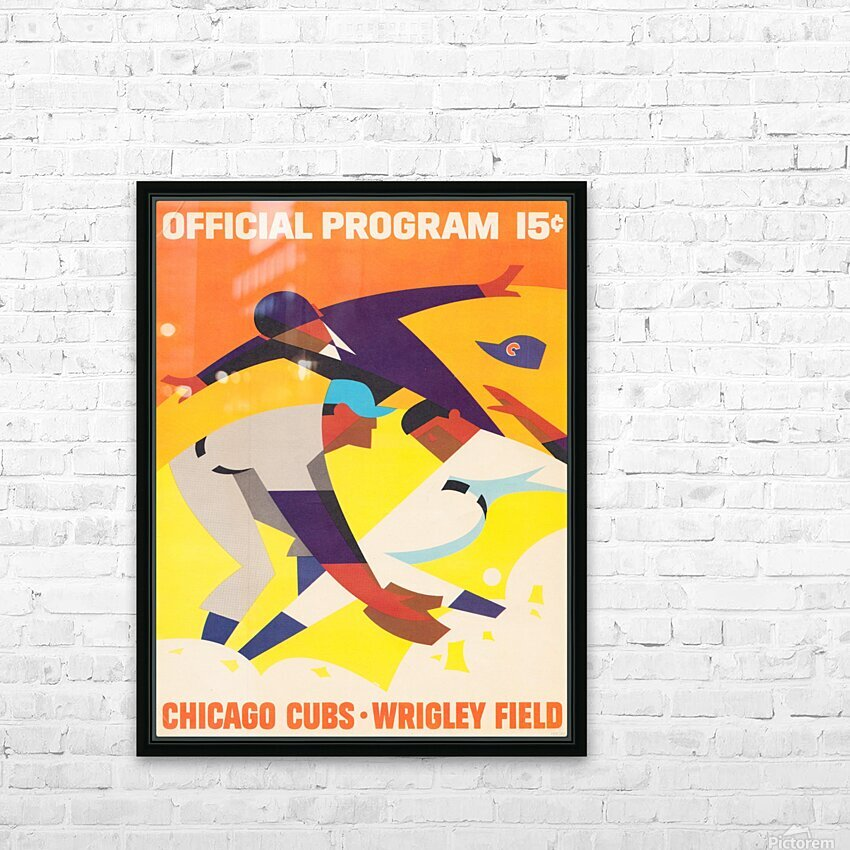 1967 Chicago Cubs Program HD Sublimation Metal print with Decorating Float Frame (BOX)