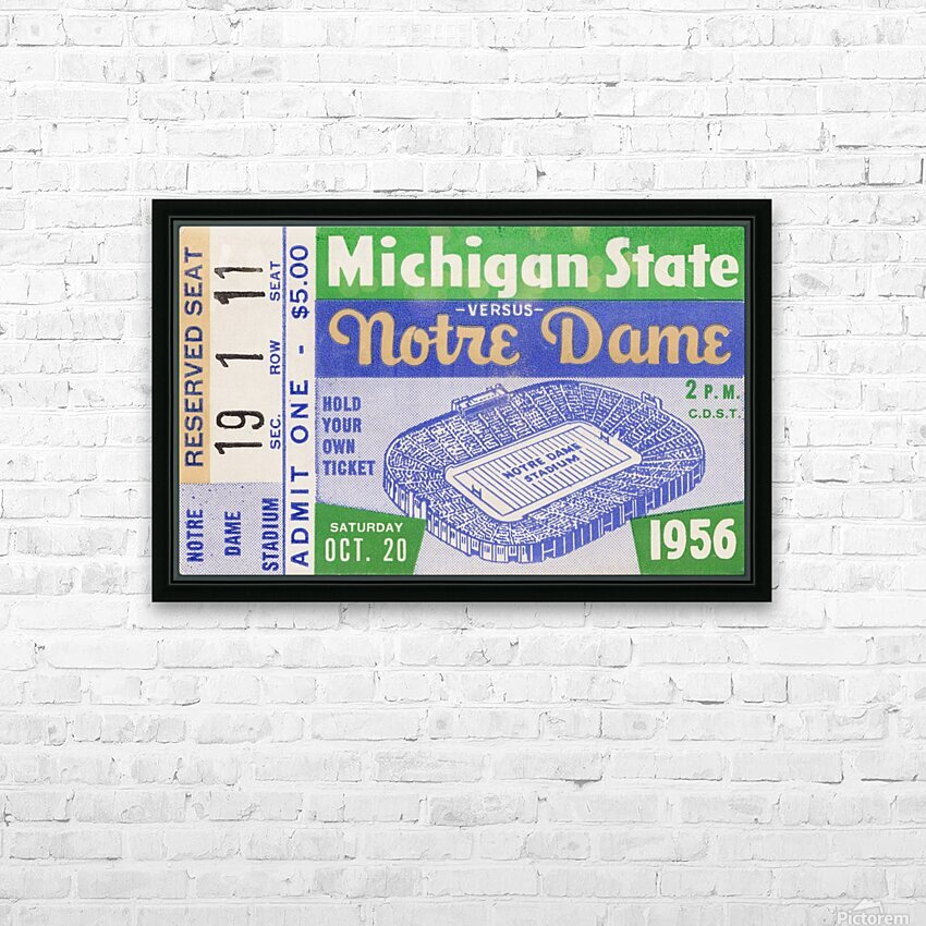 1956 Michigan State vs. Notre Dame HD Sublimation Metal print with Decorating Float Frame (BOX)