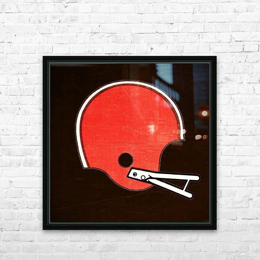 1982 Cleveland Browns Helmet Art HD Sublimation Metal print with Decorating Float Frame (BOX)