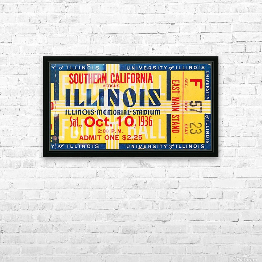 1936 USC vs. Illinois HD Sublimation Metal print with Decorating Float Frame (BOX)