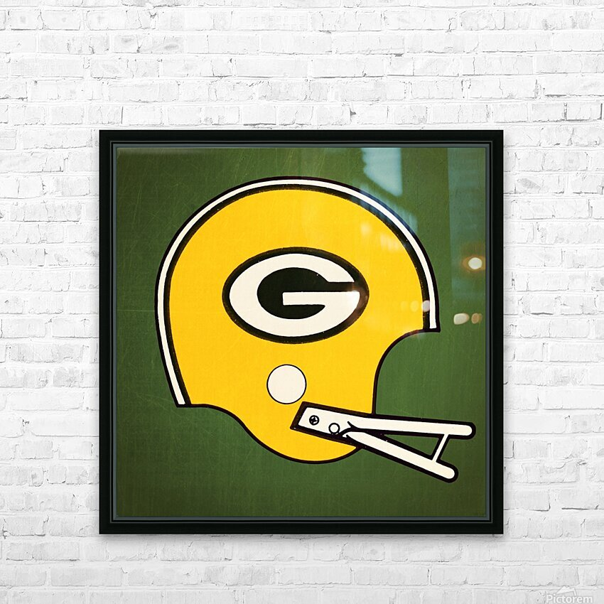 1982 Green Bay Helmet Art HD Sublimation Metal print with Decorating Float Frame (BOX)