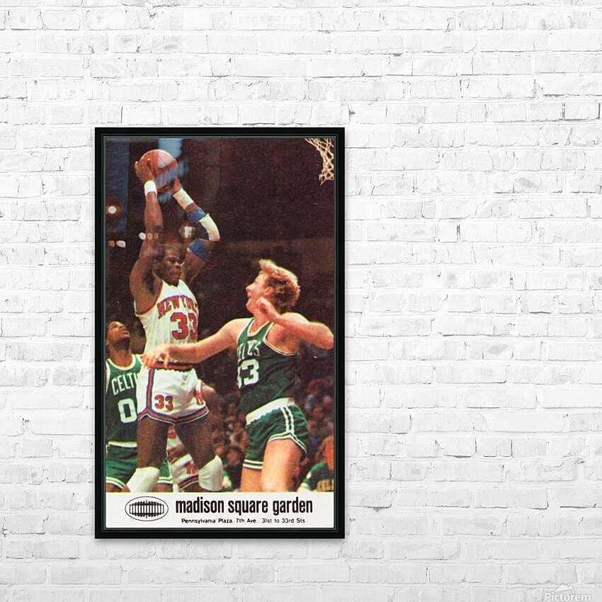 1986 New York Knicks HD Sublimation Metal print with Decorating Float Frame (BOX)