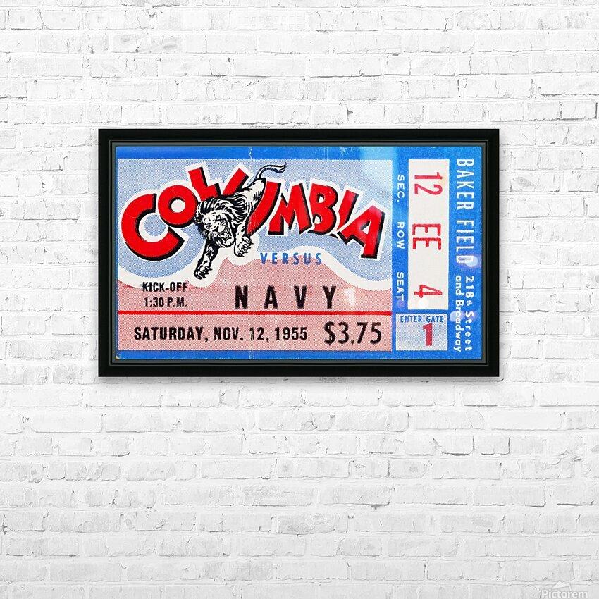 1955 Columbia vs. Navy HD Sublimation Metal print with Decorating Float Frame (BOX)