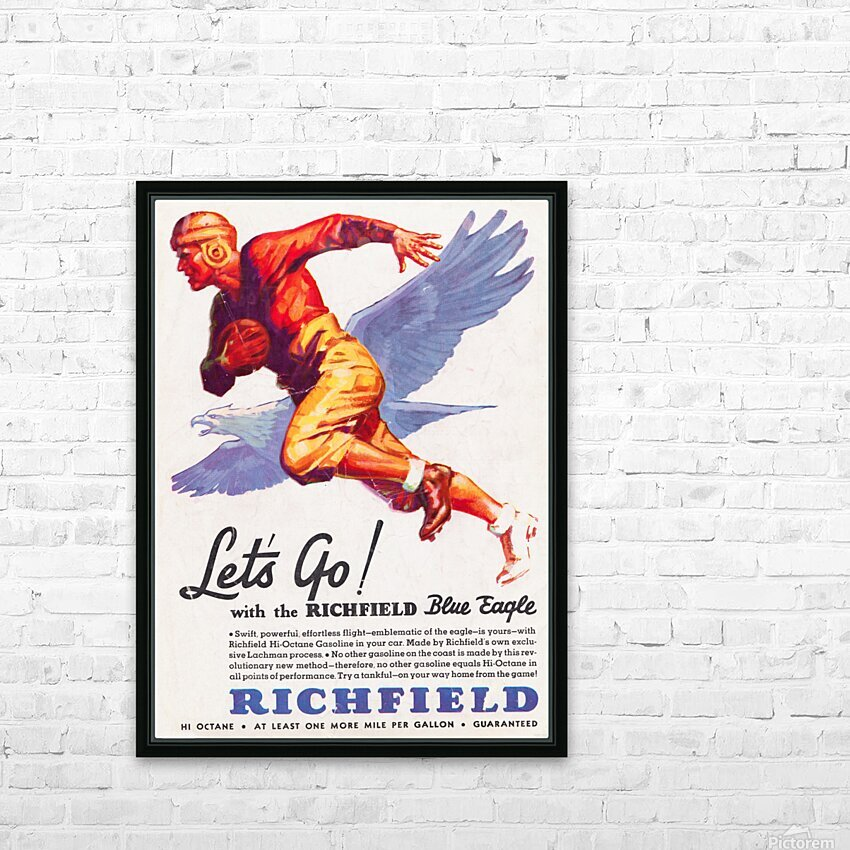 1933 Richfield Gasoline Ad HD Sublimation Metal print with Decorating Float Frame (BOX)