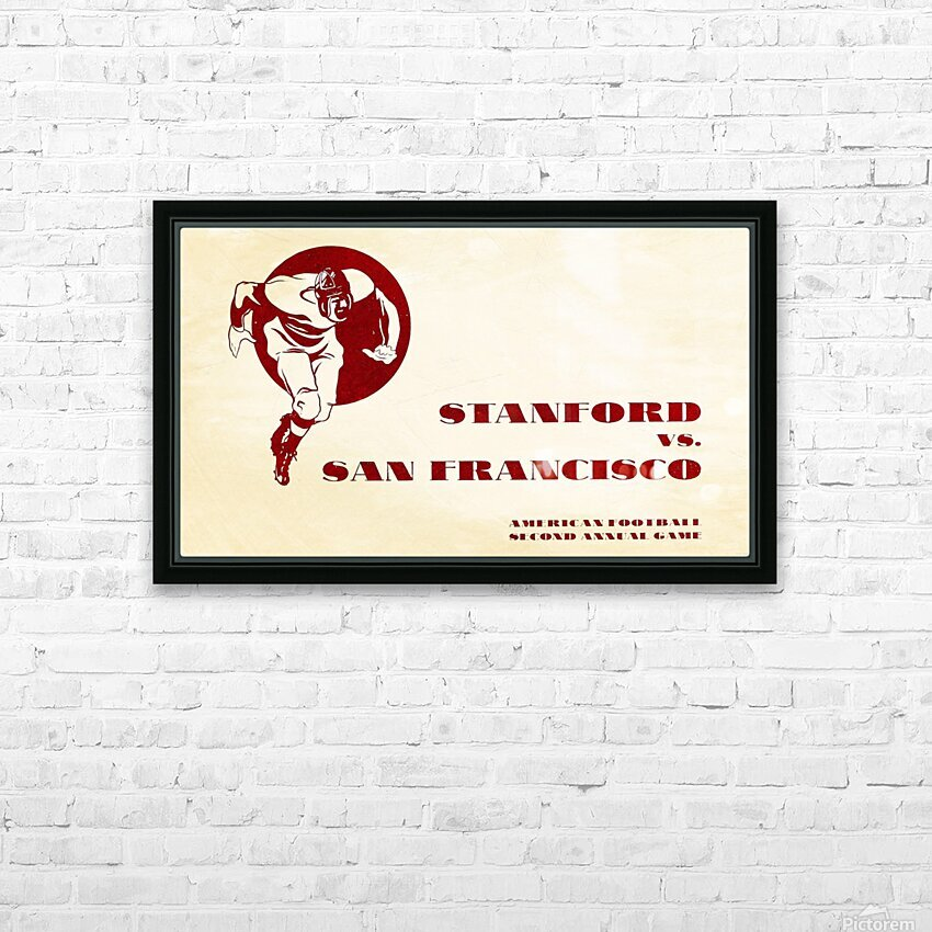 1933 Stanford vs. San Francisco American Football HD Sublimation Metal print with Decorating Float Frame (BOX)