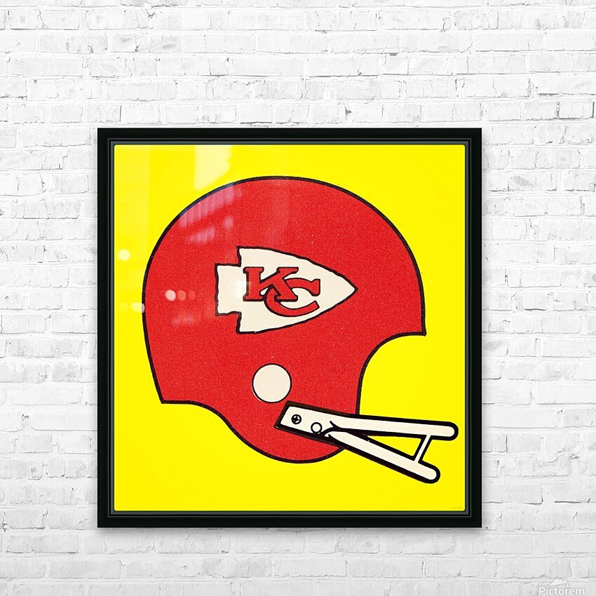 1982 Kansas City Chiefs Helmet Art HD Sublimation Metal print with Decorating Float Frame (BOX)