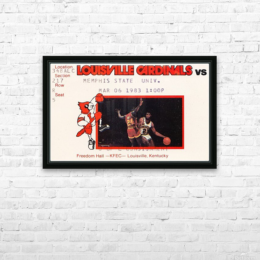 1983 Memphis State vs. Louisville HD Sublimation Metal print with Decorating Float Frame (BOX)