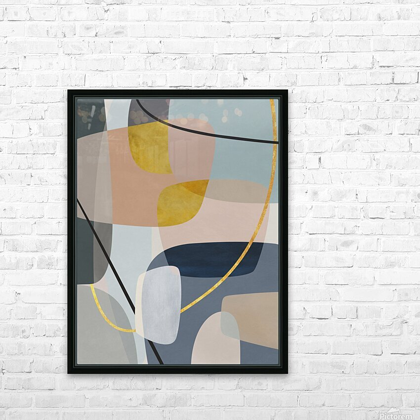 Abstract Composition 1147 HD Sublimation Metal print with Decorating Float Frame (BOX)