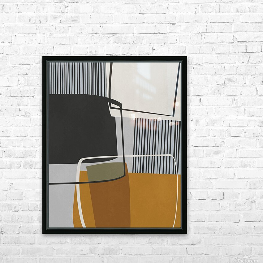 Abstract Composition 1146 HD Sublimation Metal print with Decorating Float Frame (BOX)