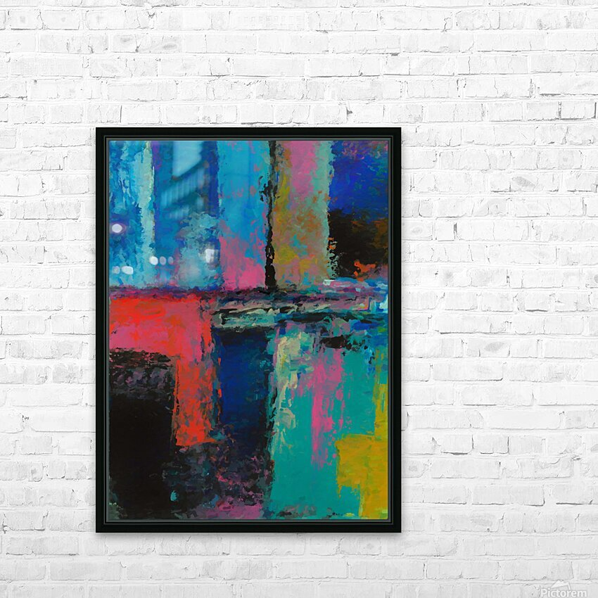Abstract Composition 1141 HD Sublimation Metal print with Decorating Float Frame (BOX)