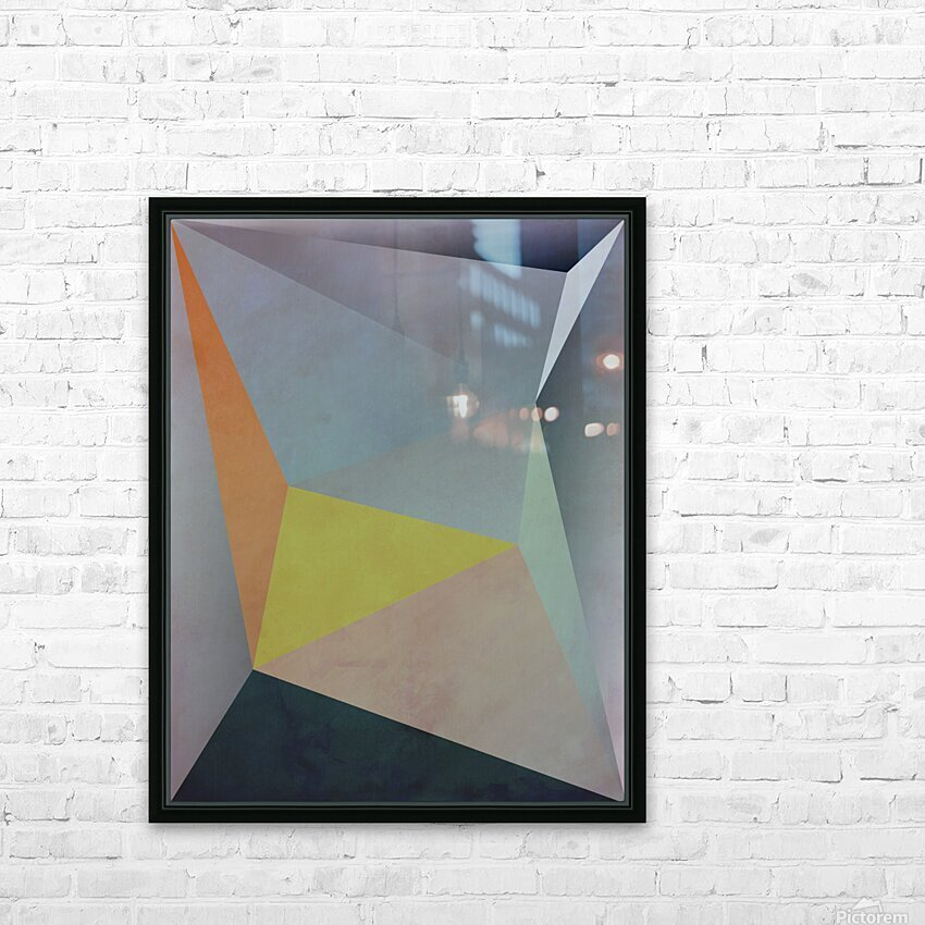 Abstract Composition 1137 HD Sublimation Metal print with Decorating Float Frame (BOX)