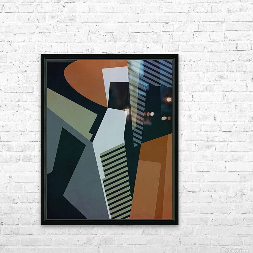 Abstract Composition 1132 HD Sublimation Metal print with Decorating Float Frame (BOX)