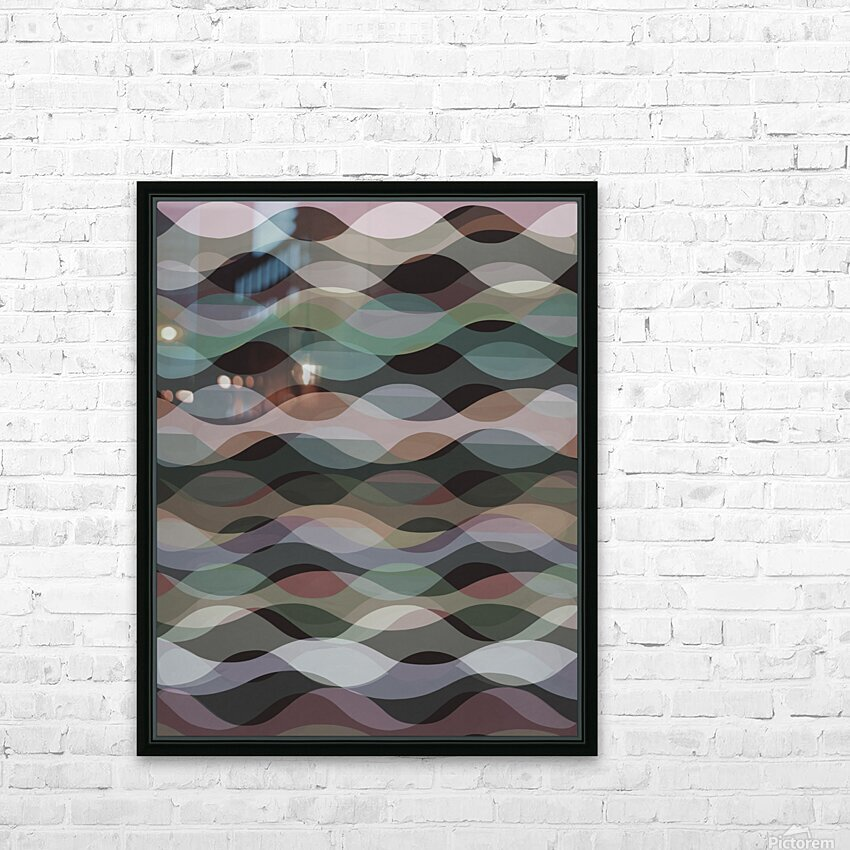 Abstract Composition 1127 HD Sublimation Metal print with Decorating Float Frame (BOX)