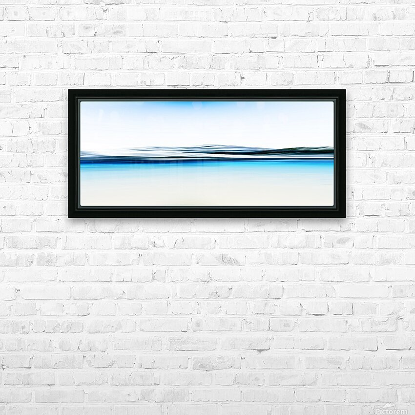 Magestic Mountain HD Sublimation Metal print with Decorating Float Frame (BOX)