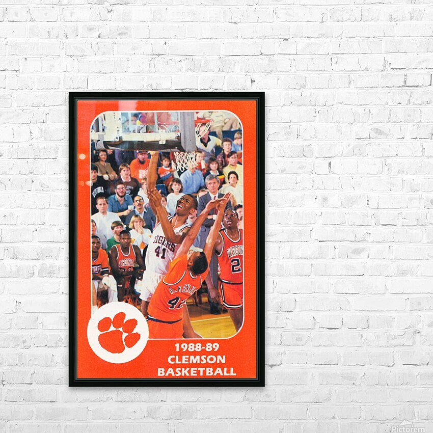 1988 Clemson Tigers Eldon Campbell HD Sublimation Metal print with Decorating Float Frame (BOX)