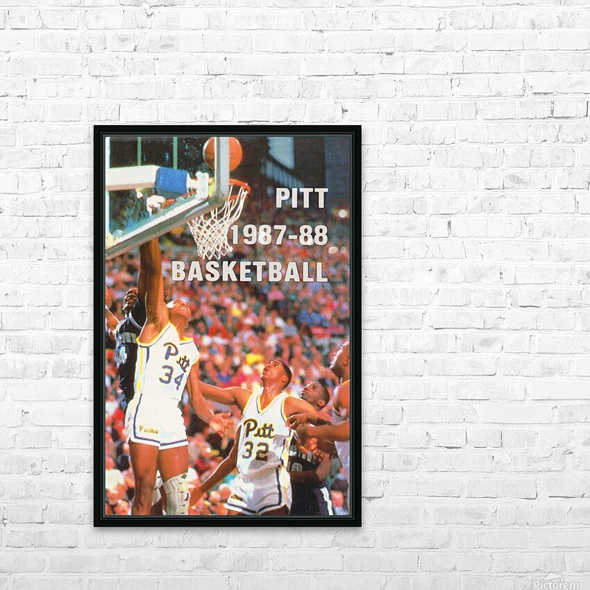 1987 Pitt Panthers Basketball HD Sublimation Metal print with Decorating Float Frame (BOX)