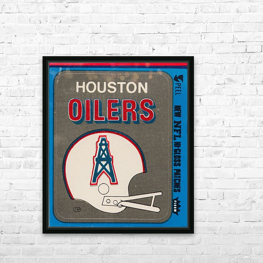 1981 Houston Oilers Helmet HD Sublimation Metal print with Decorating Float Frame (BOX)