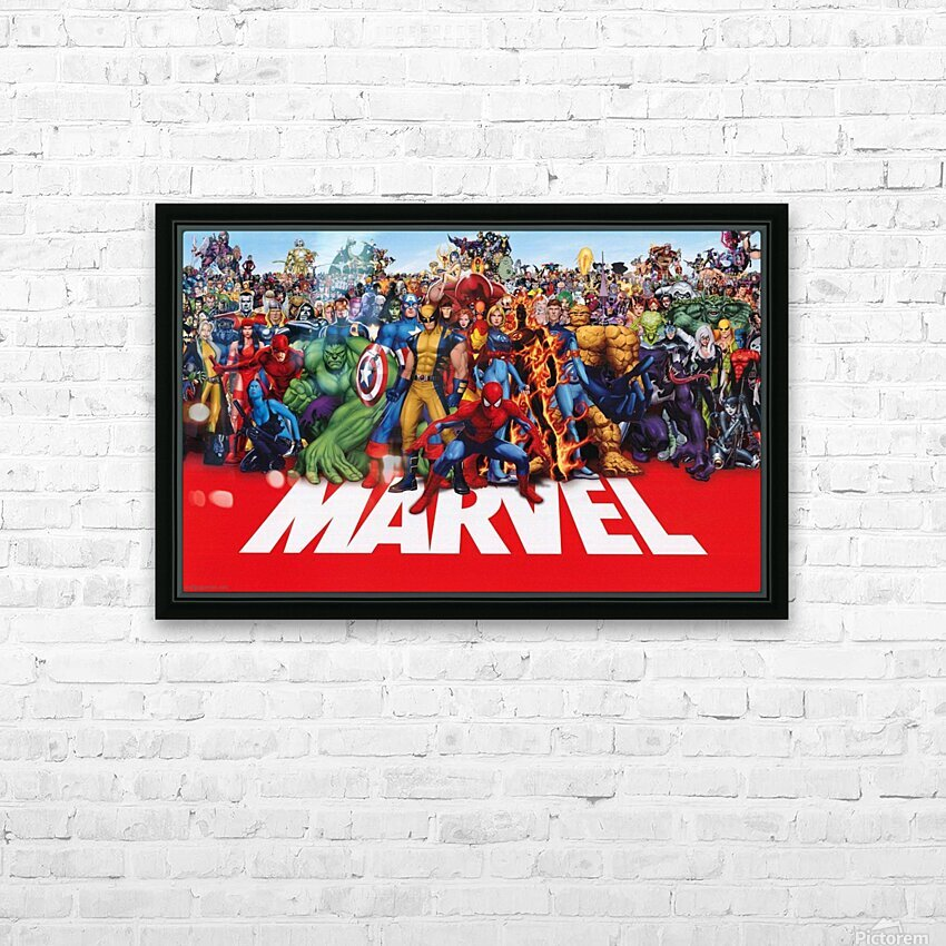 M-arvel squad HD Sublimation Metal print with Decorating Float Frame (BOX)