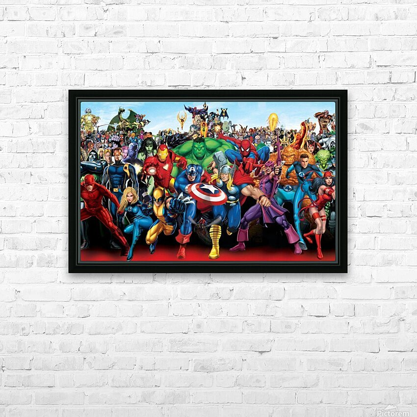 R-eady for battle HD Sublimation Metal print with Decorating Float Frame (BOX)